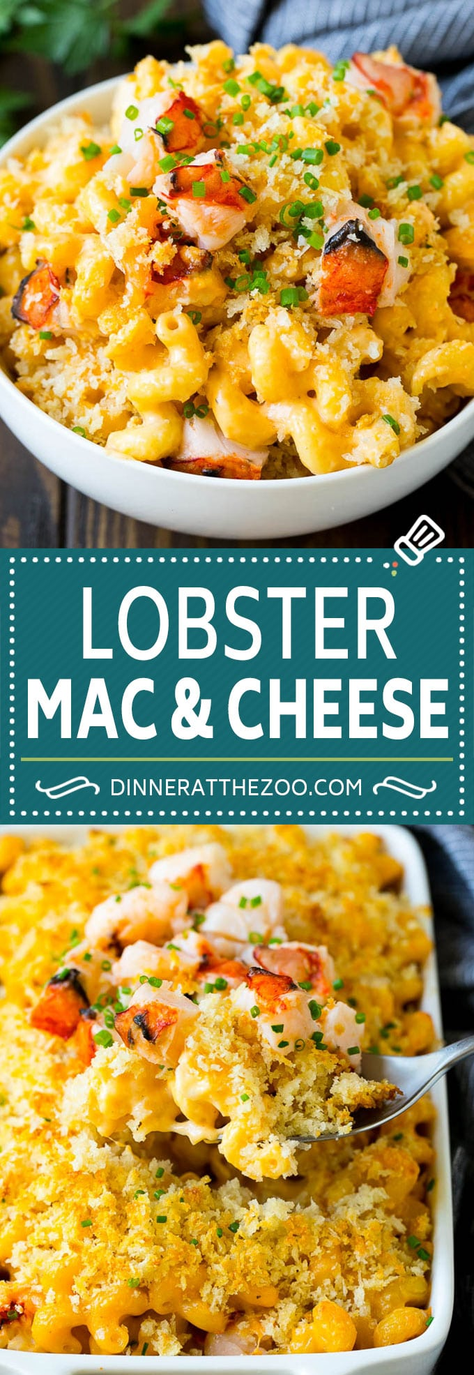 Lobster Mac and Cheese Recipe   Lobster Macaroni and Cheese   Baked Mac and Cheese #pasta #macandcheese #macaroni #lobster #cheese #dinner #dinneratthezoo