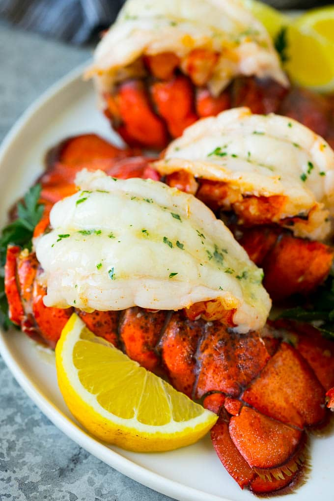 Lobster Tails With Garlic Butter Dinner At The Zoo