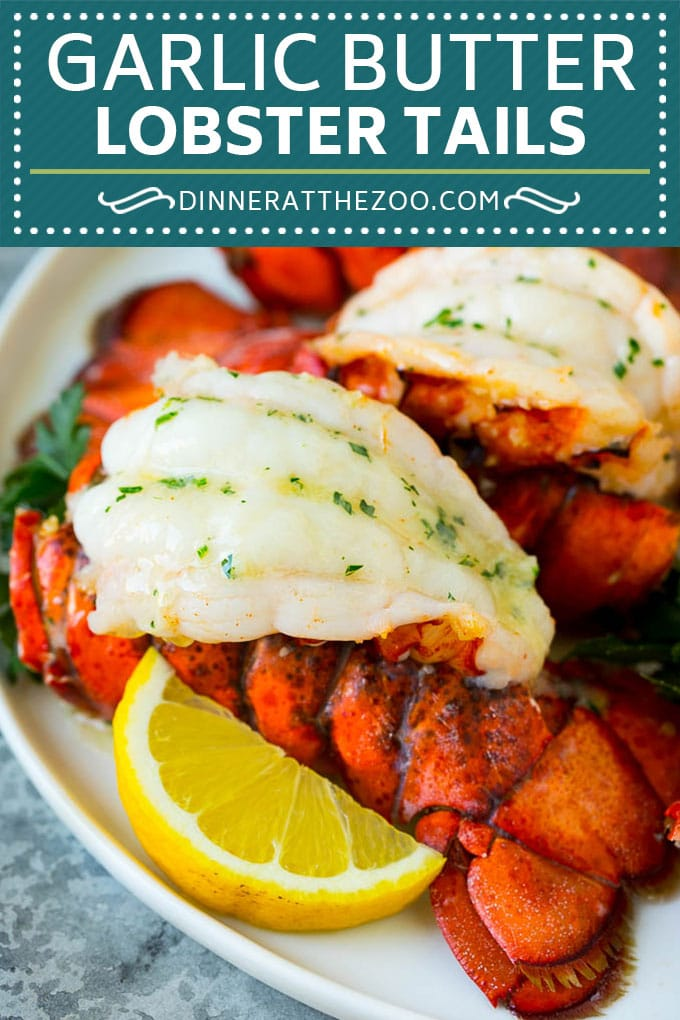 Lobster Tails with Garlic Butter - Dinner at the Zoo
