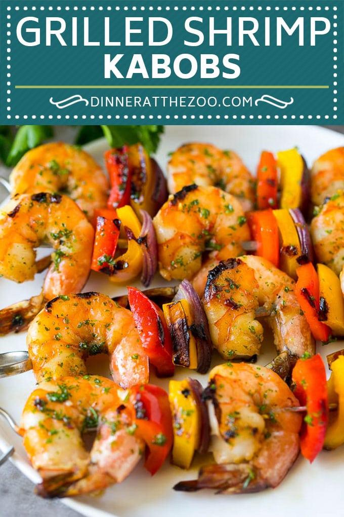 Shrimp Kabobs Recipe | Shrimp Skewers | Grilled Shrimp #shrimp #grilling #kabobs #dinner #dinneratthezoo #peppers