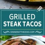 Steak Tacos Recipe | Beef Tacos | Grilled Steak #steak #tacos #tacotuesday #avocado #dinner #dinneratthezoo