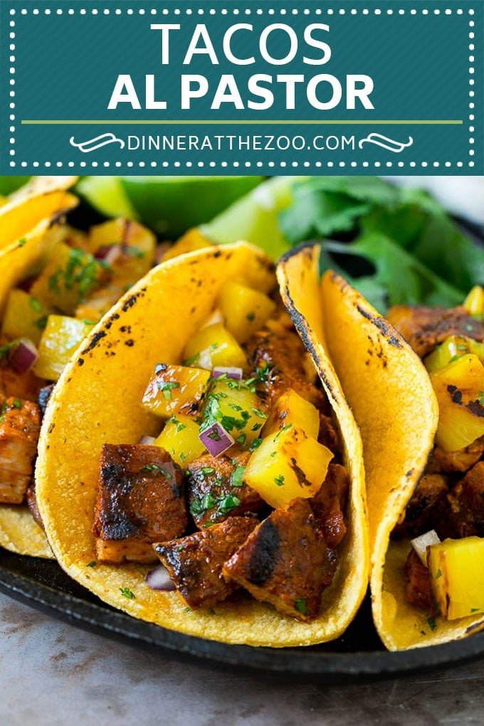 Tacos al Pastor Recipe | Pork Tacos | Mexican Tacos #tacos #pork #pineapple #grilling #tacotuesday #dinner #dinneratthezoo