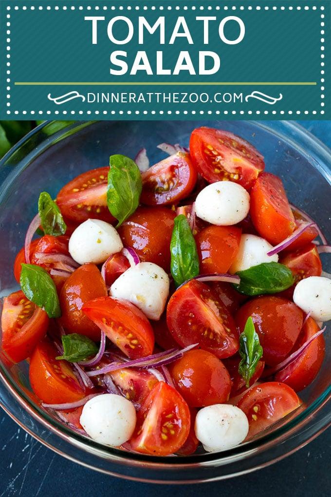Tomato Salad Recipe | Tomato Basil Salad | Caprese Salad #salad #tomatoes #cheese #summer #dinner #dinneratthezoo