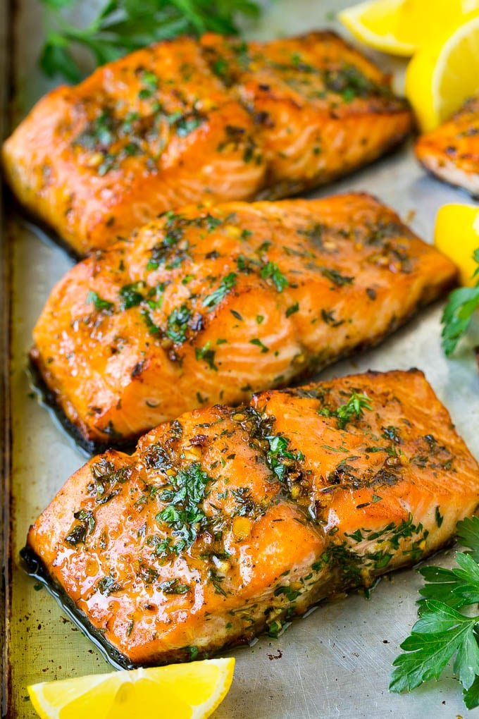 Baked Salmon With Garlic Butter Dinner At The Zoo