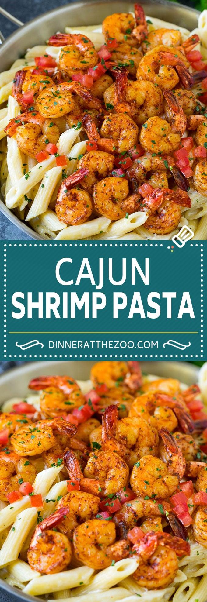 Cajun Shrimp Pasta Recipe | Shrimp Pasta | Creamy Pasta #pasta #shrimp #cajun #dinner #dinneratthezoo