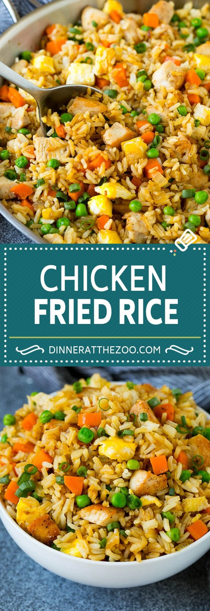 Chicken Fried Rice Recipe   Chinese Fried Rice #rice #chicken #peas #carrots #sidedish #dinner #dinneratthezoo