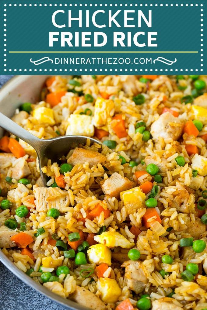 Chicken Fried Rice Recipe | Chinese Fried Rice #rice #chicken #peas #carrots #sidedish #dinner #dinneratthezoo