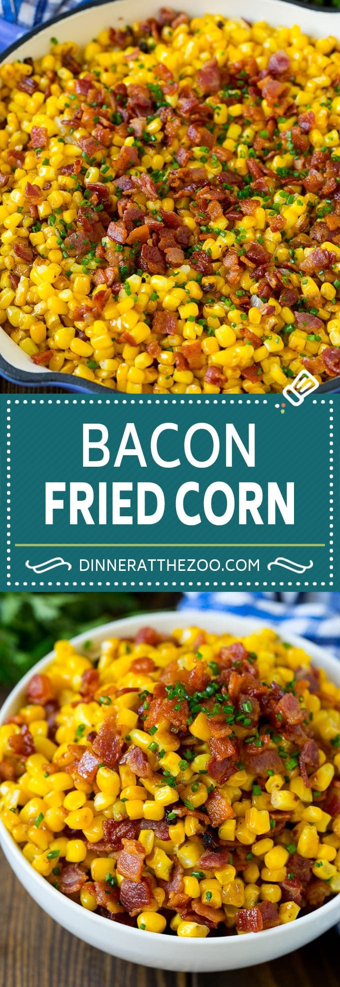 Bacon Fried Corn Recipe | Sauteed Corn | Corn Side Dish #corn #bacon #sidedish #glutenfree #dinner #dinneratthezoo