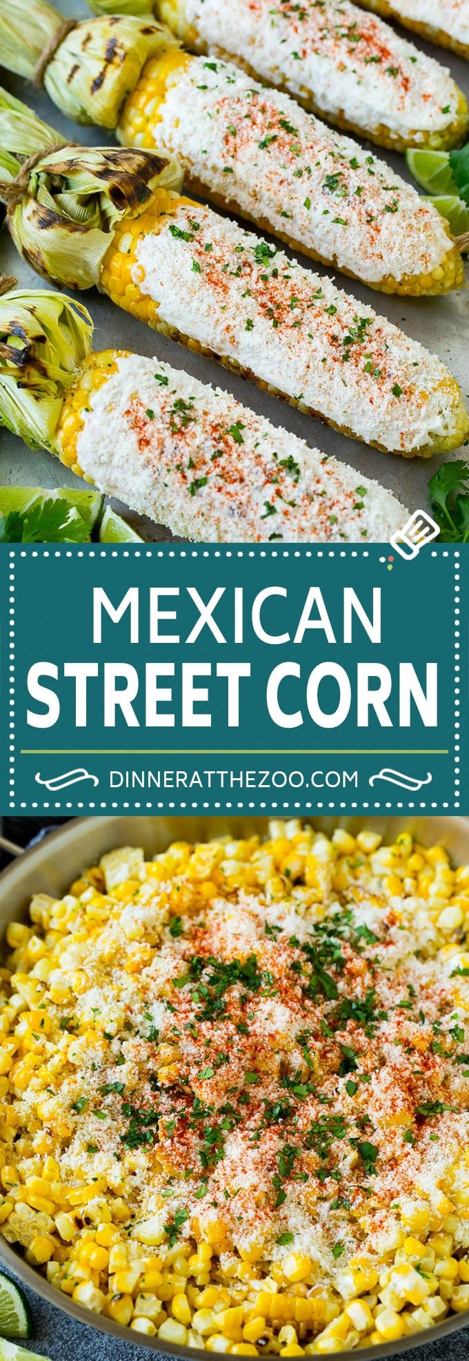 Mexican Street Corn Recipe | Elote Corn | Mexican Corn on the Cob #corn #sidedish #summer #cheese #grilling #dinner #dinneratthezoo