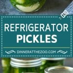 Refrigerator Pickles Recipe | Pickled Cucumbers | Quick Pickles #pickles #cucumbers #garlic #dill #dinneratthezoo