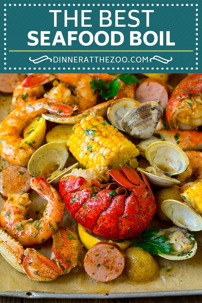 Seafood Boil Recipe | Shrimp Boil #lobster #shrimp #clams #crab #sausage #corn #potatoes #dinner #dinneratthezoo
