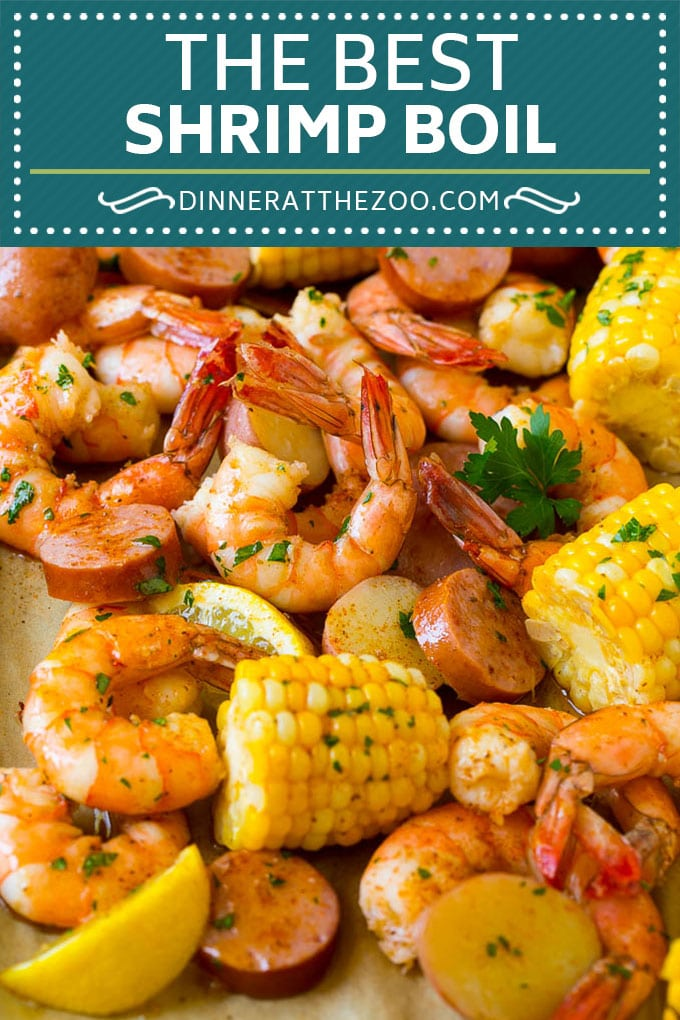 Shrimp Boil Recipe | Boiled Shrimp | Low Country Boil #shrimp #sausage #corn #potatoes #seafood #dinner #dinneratthezoo
