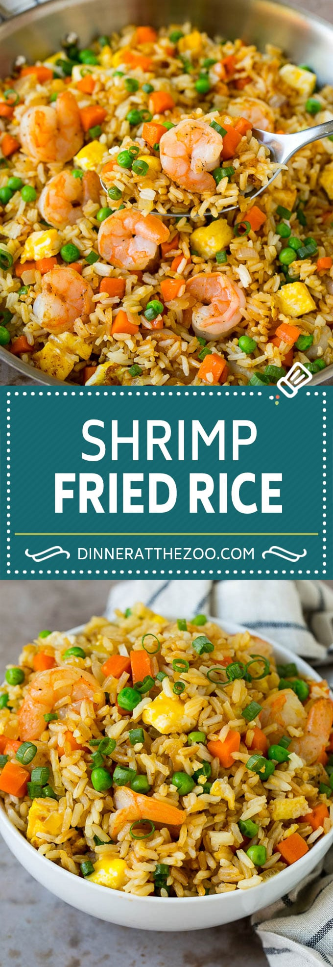 Shrimp Fried Rice Recipe | Chinese Fried Rice #rice #shrimp #peas #carrots #sidedish #dinner #dinneratthezoo