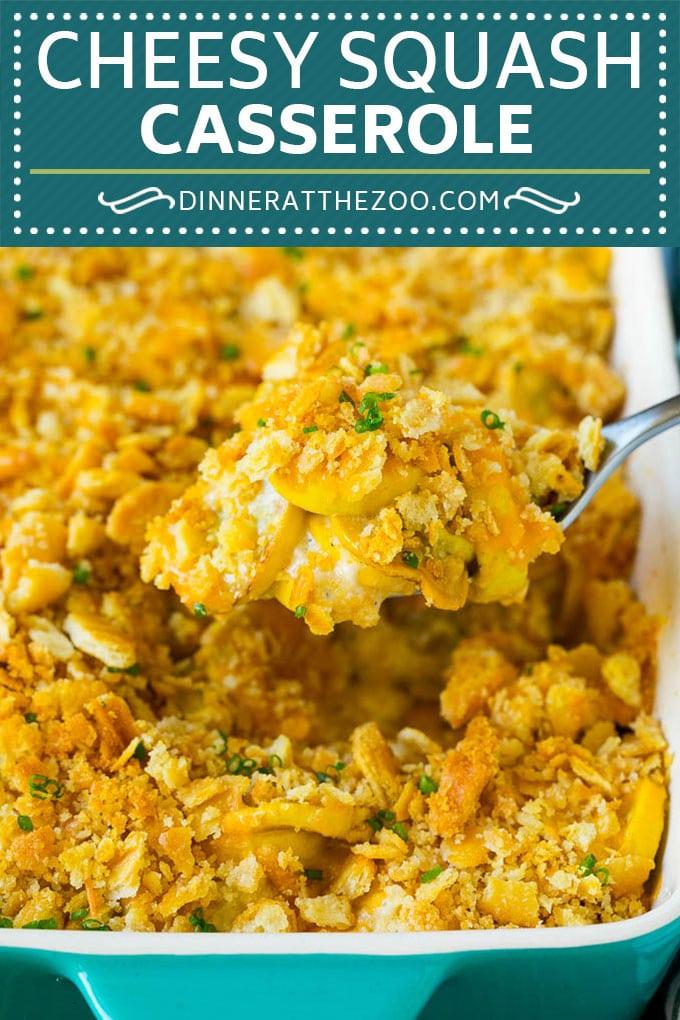 Squash Casserole Recipe | Vegetable Casserole | Zucchini Casserole #casserole #squash #zucchini #cheese #sidedish #dinneratthezoo