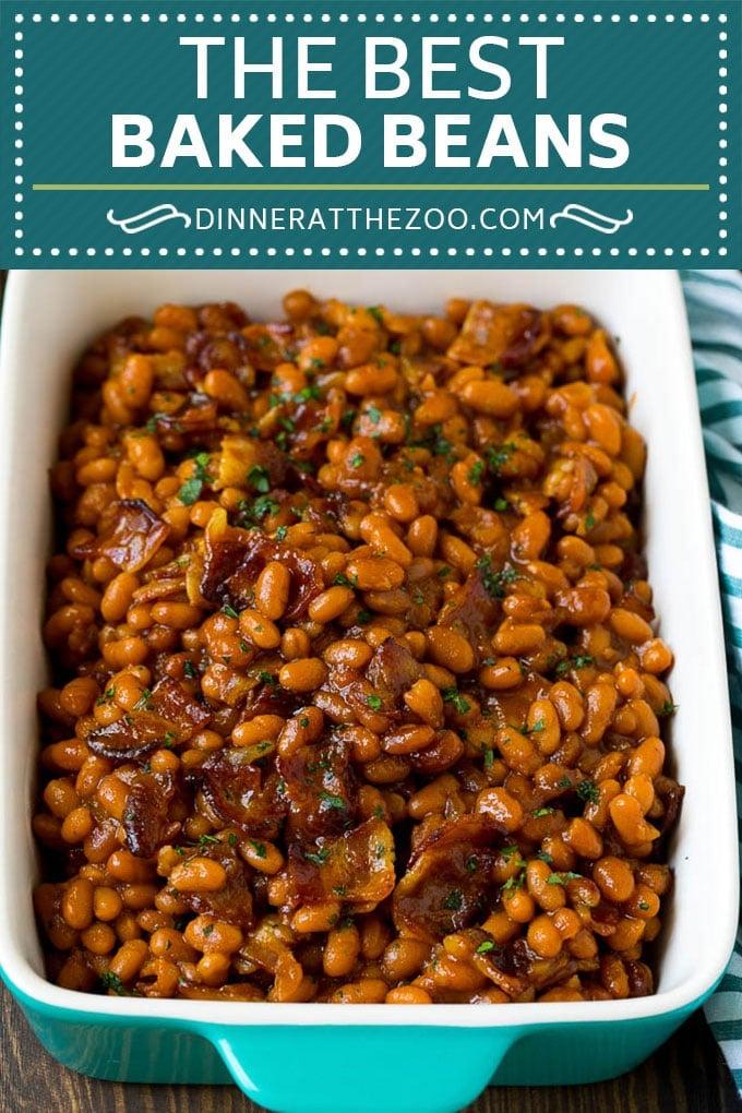 Baked Beans Recipe #beans #bacon #sidedish #bbq #dinner #dinneratthezoo