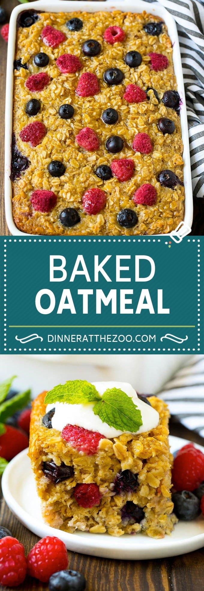 Baked Oatmeal Recipe | Meal Prep | Healthy Oatmeal #oatmeal #casserole #breakfast #brunch #dinneratthezoo #mealprep