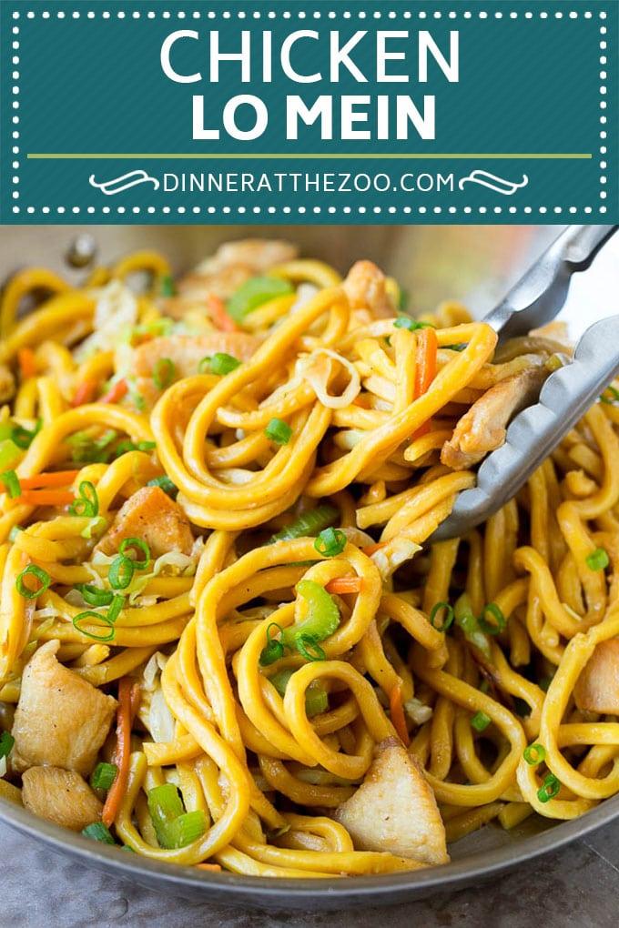 Chicken Lo Mein | Stir Fry Noodles #chicken #noodles #chinesefood #dinner #dinneratthezoo #lomein