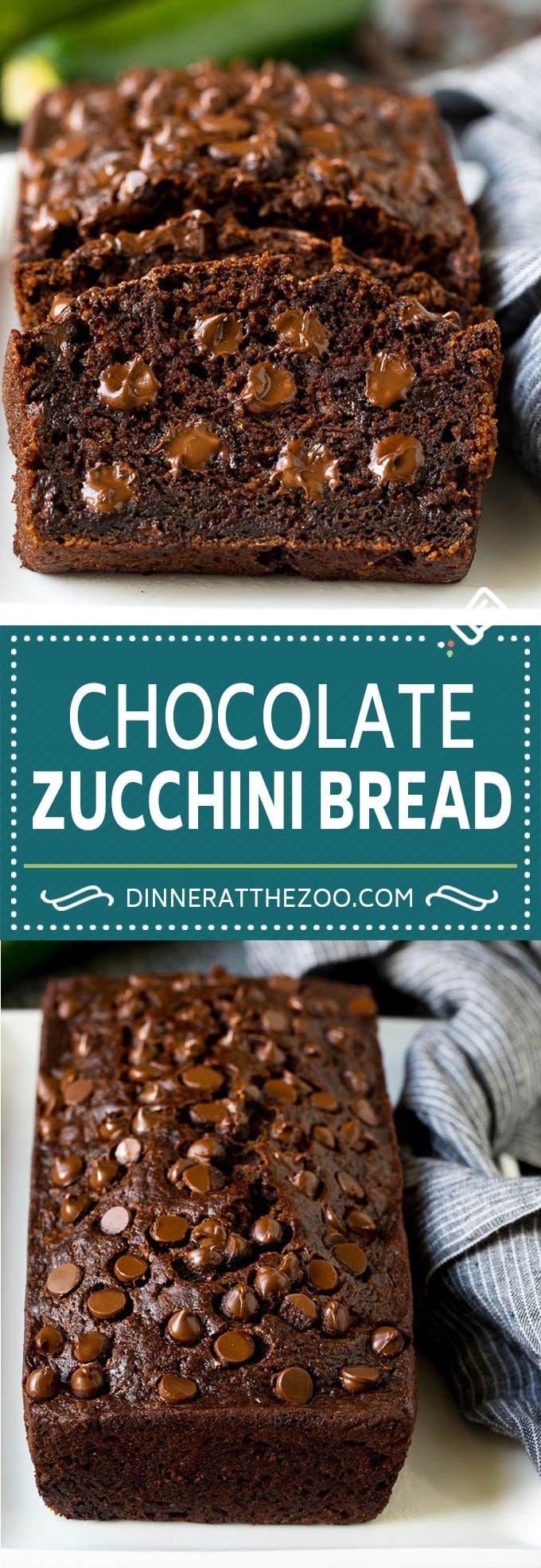 Chocolate Zucchini Bread Recipe | Zucchini Bread #bread #zucchini #chocolate #baking #dessert #dinneratthezoo