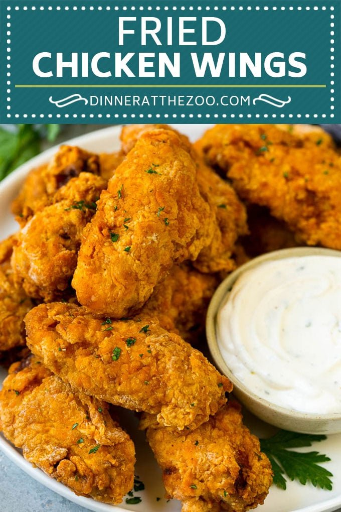 Fried Chicken Wings Recipe | Chicken Wings #chicken #chickenwings #appetizer #snack #dinner #dinneratthezoo