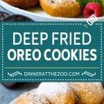 Fried Oreos Recipe #oreos #cookies #dessert #chocolate #dinneratthezoo
