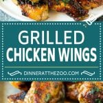 Grilled Chicken Wings   Marinated Chicken Wings   Grilled Chicken #chicken #chickenwings #grilling #marinade #dinner #appetizer #dinneratthezoo