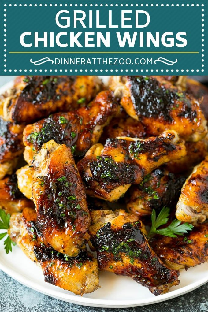Grilled Chicken Wings | Marinated Chicken Wings | Grilled Chicken #chicken #chickenwings #grilling #marinade #dinner #appetizer #dinneratthezoo