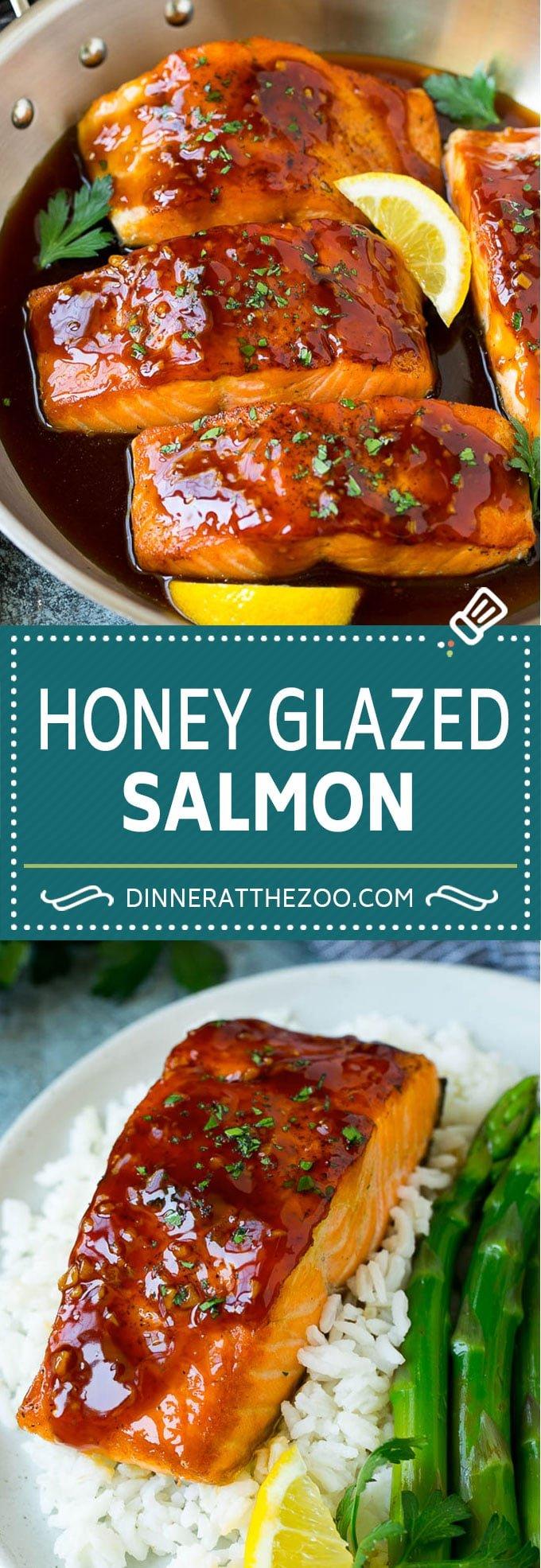 Honey Glazed Salmon Recipe | Seared Salmon #salmon #honey #dinner #fish #garlic #dinneratthezoo
