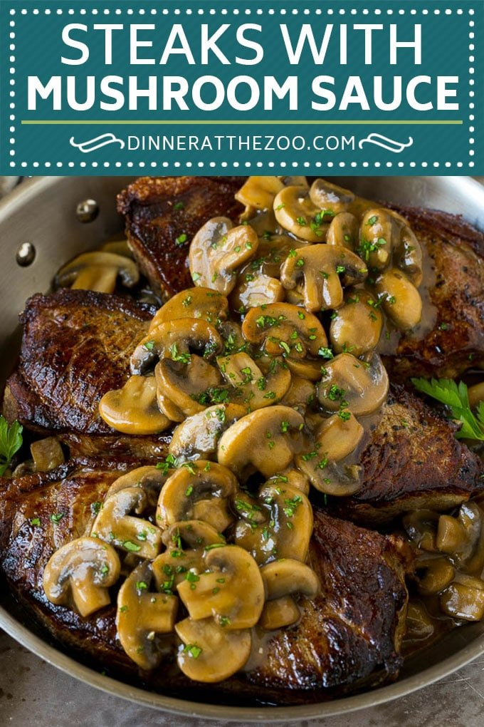 Mushroom Steak Sauce Recipe #mushrooms #steak #beef #dinner #dinneratthezoo
