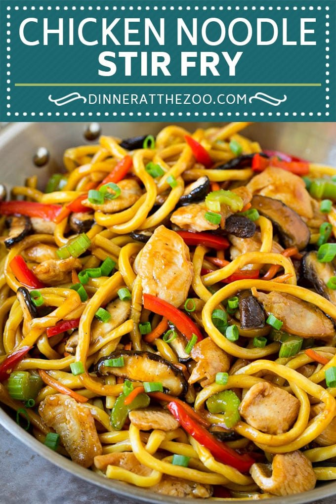 Stir Fry Noodles Recipe | Noodle Stir Fry #chiken #noodles #stirfry #mushrooms #diinner #dinneratthezoo