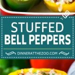 Stuffed Bell Peppers Recipe | Stuffed Peppers #beef #rice #peppers #dinner #cheese #dinneratthezoo