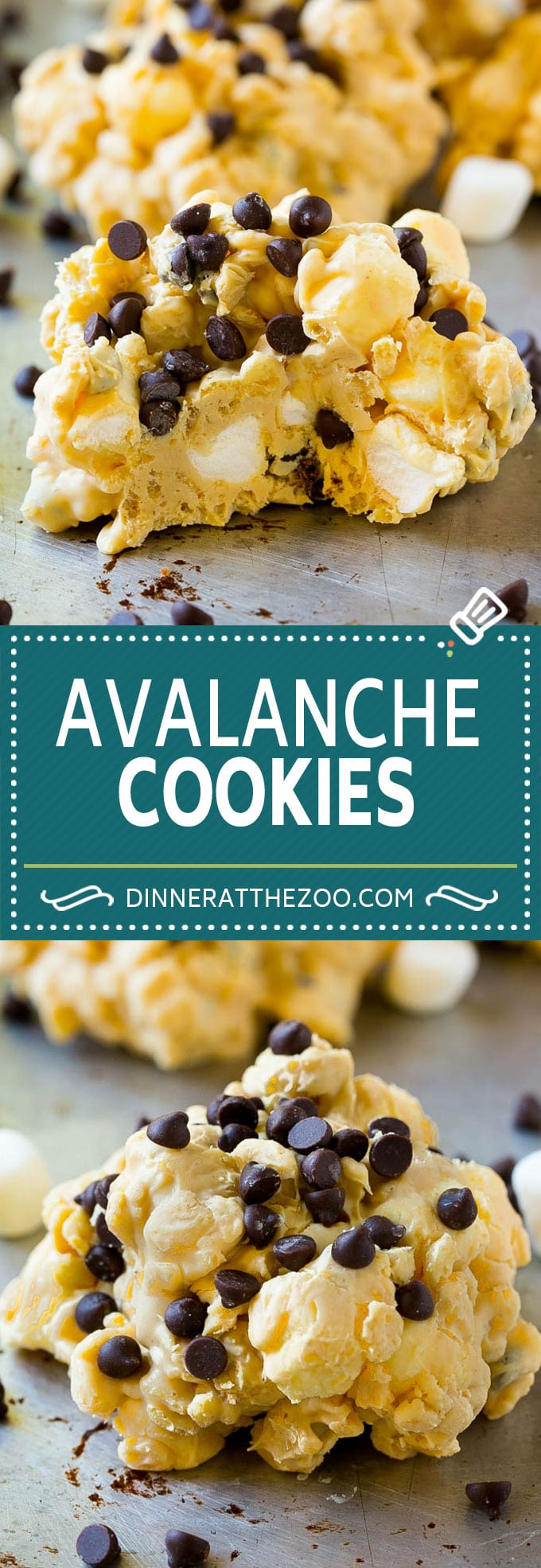 Avalanche Cookies Recipe | No Bake Cookie Recipe | Easy Cookie Recipe | Avalanche Bark #cookies #nobake #peanutbutter #marshmallow #chocolate #dessert #dinneratthezoo
