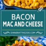 Bacon Mac and Cheese Recipe   One Pot Macaroni and Cheese #macandcheese #cheese #bacon #onepot #dinner #dinneratthezoo