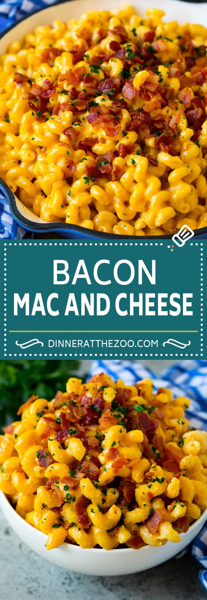 Bacon Mac and Cheese Recipe | One Pot Macaroni and Cheese #macandcheese #cheese #bacon #onepot #dinner #dinneratthezoo