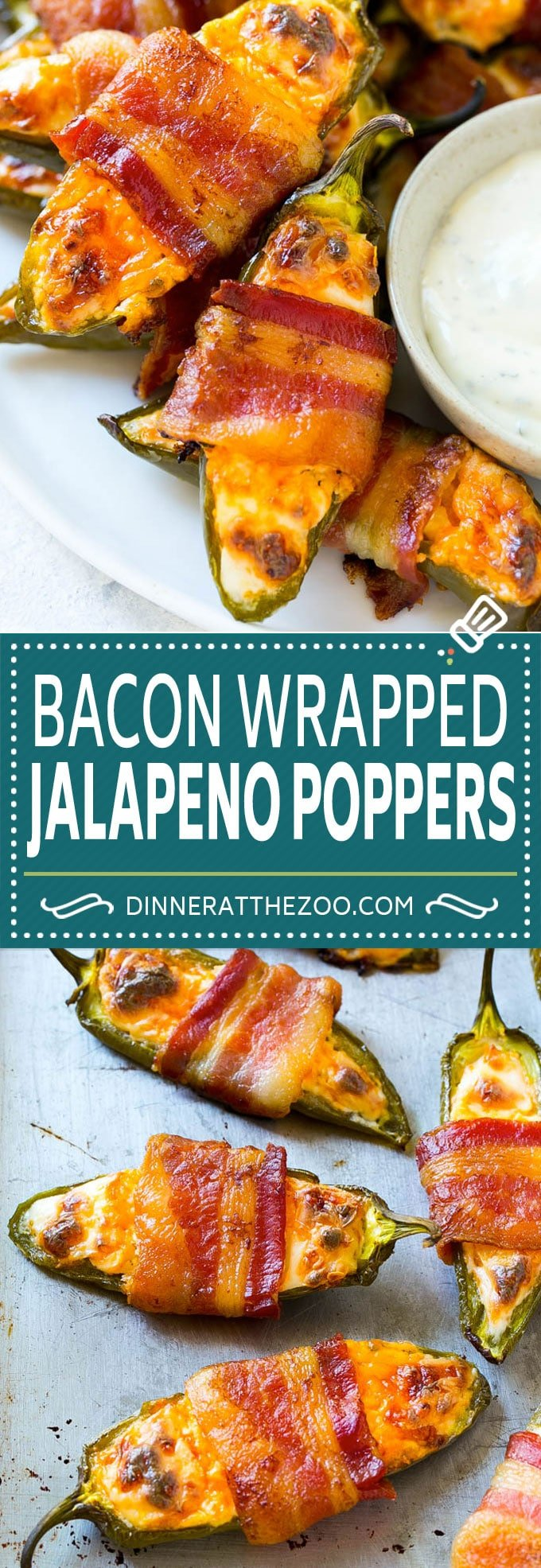 Bacon Wrapped Jalapeno Poppers Recipe   Baked Jalapeno Poppers   Bacon Appetizer #bacon #jalapenos #poppers #appetizer #snack #lowcarb #keto #dinneratthezoo