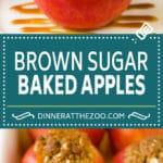 Baked Apples | Stuffed Apples #apples #fall #dessert #sweettooth #dinneratthezoo