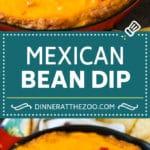 Bean Dip Recipe | Mexican Dip #dip #appetizer #mexicanfood #beans #cheese #dinneratthezoo