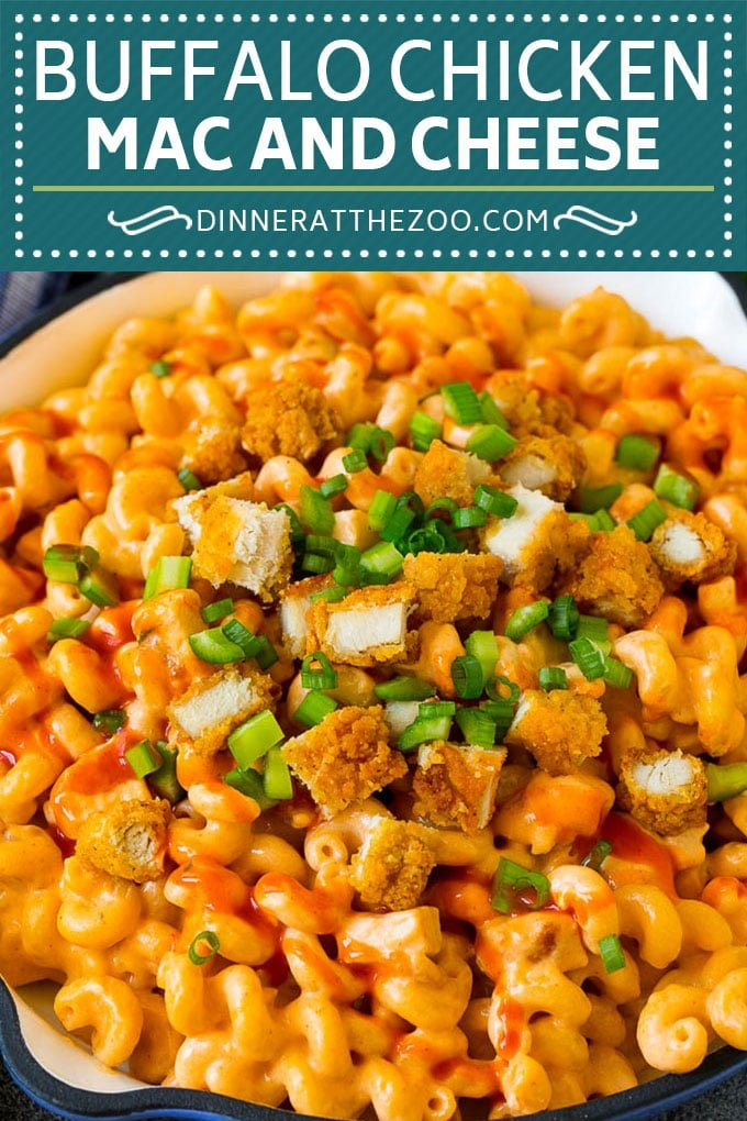 Buffalo Chicken Mac and Cheese Recipe | Spicy Macaroni and Cheese #chicken #buffalochicken #macandcheese #cheese #dinner #pasta #dinneratthezoo