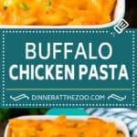 Buffalo Chicken Pasta Recipe | Baked Pasta #chicken #buffalochicken #pasta #cheese #dinner #dinneratthezoo