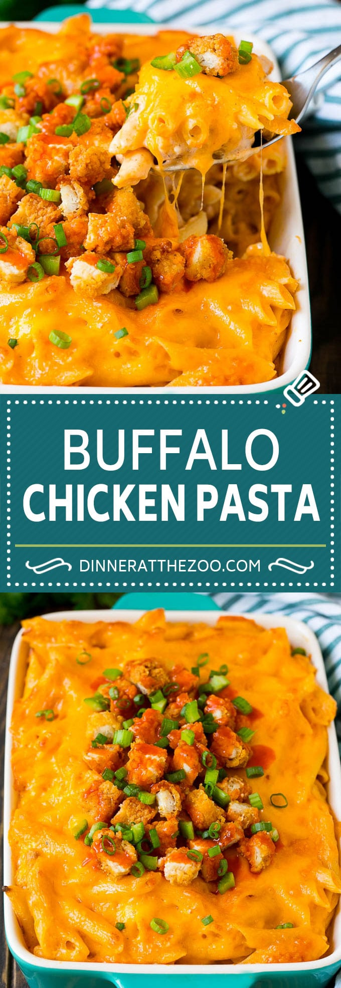 Buffalo Chicken Pasta Recipe | Baked Pasta #chicken #buffalochicken #pasta #cheese #dinner #dinneratthezoo