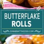 Butterflake Rolls Recipe | Easy Dinner Rolls | Homemade Dinner Rolls | Thanksgiving Rolls #rolls #bread #sidedish #baking #thanksgiving #dinner #dinneratthezoo