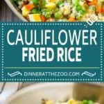 Cauliflower Fried Rice Recipe | Cauliflower Rice #rice #cauliflower #lowcarb #dinner #keto #dinneratthezoo