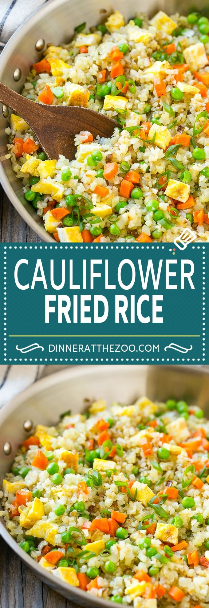 Cauliflower Fried Rice Recipe | Cauliflower Rice #rice #cauliflower #lowcarb #dinner #keto #dinneratthezoo