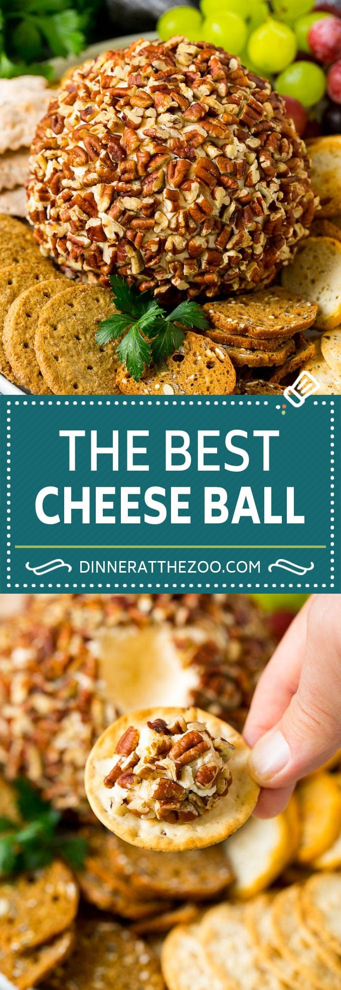 Cheese Ball Recipe #cheese #cheeseball #pecans #appetizer #snack #keto #lowcarb #dinneratthezoo
