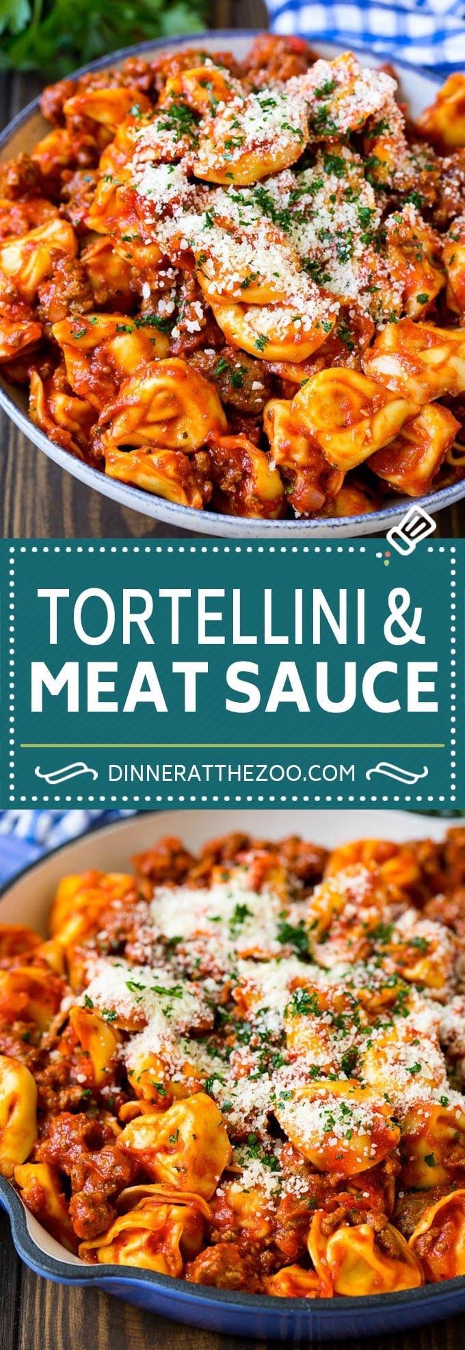 Cheese Tortellini in Meat Sauce #tortellini #pasta #sauce #dinner #dinneratthezoo #cheese