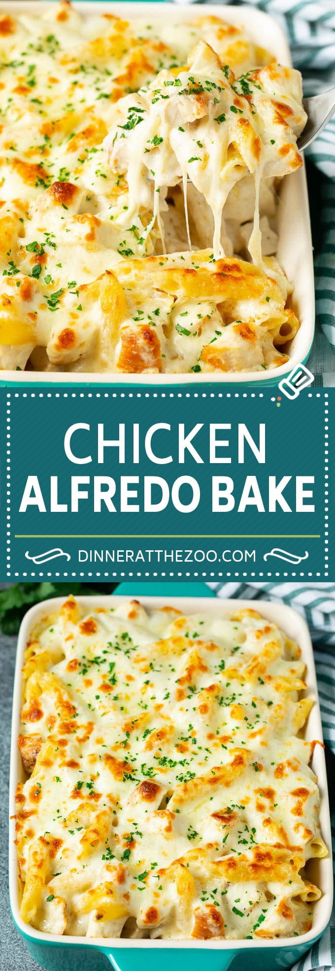 Chicken Alfredo Bake | Baked Pasta #chicken #pasta #cheese #comfortfood #dinner #dinneratthezoo