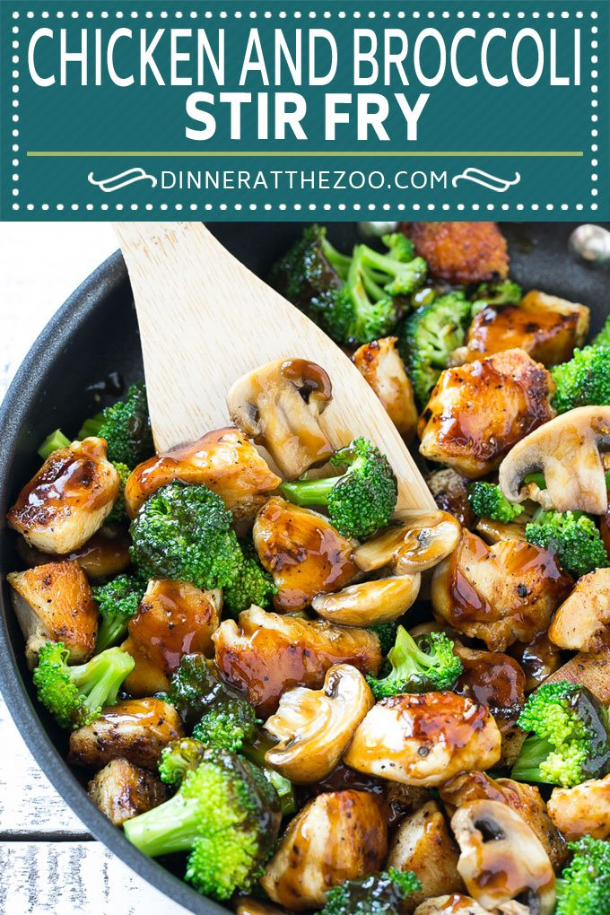 Chicken and Broccoli Stir Fry Recipe | Chicken Stir Fry #chicken #stirfry #broccoli #mushrooms #dinner #healthy #dinneratthezoo