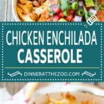 Chicken Enchilada Casserole Recipe | Mexican Casserole | Chicken Enchiladas #enchiladas #casserole #chicken #cheese #mexicanfood #dinner #dinneratthezoo