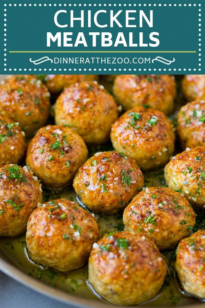 Chicken Meatballs Recipe | Baked Meatballs #chicken #meatballs #dinner #dinneratthezoo #comfortfood