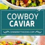 Cowboy Caviar Recipe | Bean Salad Recipe | Bean Dip Recipe | Corn and Bean Dip #beans #corn #avocado #dip #appetizer #dinneratthezoo