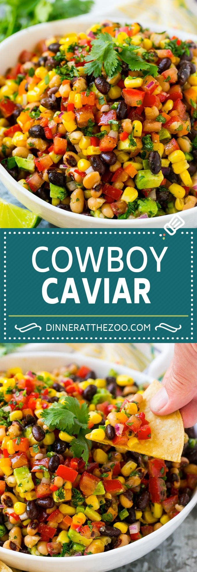 Cowboy Caviar Recipe | Bean Salad Recipe | Bean Dip Recipe | Corn and Bean Dip #beans #corn #avocado #dip #appetizer #dinneratthezoo
